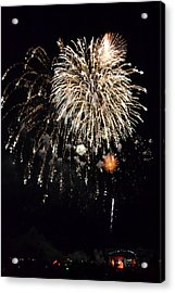 Fireworks Acrylic Print by Michelle Calkins