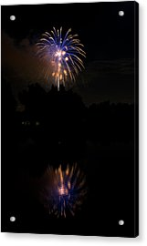 Fireworks Reflection Acrylic Print by James BO  Insogna