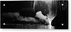 Fireworks Tahoe Ca Acrylic Print by Isak Hanold