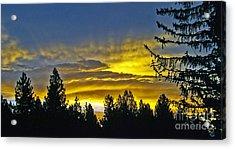Firey Sunrise Acrylic Print by Gary Brandes