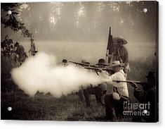 Firing On Command Acrylic Print by Kim Henderson