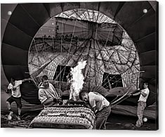 Firing The Burners Acrylic Print by Bob Orsillo