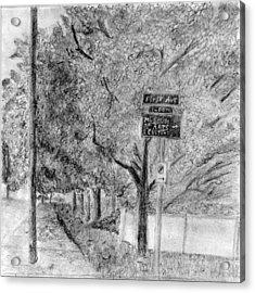 First Avenue Acrylic Print by Elizabeth Heart