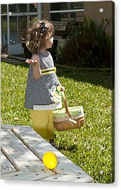 First Easter Egg Hunt Acrylic Print by Steven Sparks