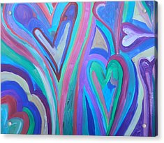 First Hearts Acrylic Print