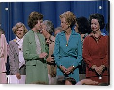 First Ladies Rosalynn Carter With Betty Acrylic Print by Everett