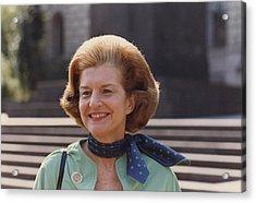 First Lady Betty Ford In Helsinki Acrylic Print by Everett