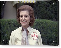 First Lady Betty Ford Sports A Button Acrylic Print