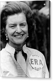 First Lady Betty Ford Wears A Badge Acrylic Print by Everett