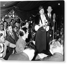 First Lady Eleanor Roosevelt Visits Acrylic Print by Everett
