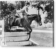 First Lady Jacqueline Kennedy, Riding Acrylic Print by Everett