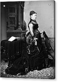 First Lady Julia Dent Grant, Wife Acrylic Print by Everett