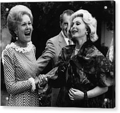 First Lady Patricia Nixon With Zsa Zsa Acrylic Print by Everett