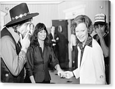 First Lady Rosalynn Carter With Waylon Acrylic Print