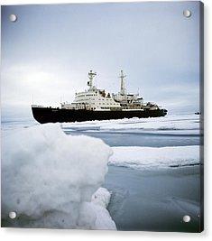 First Nuclear-powered Ship, Ns Lenin Acrylic Print by Ria Novosti