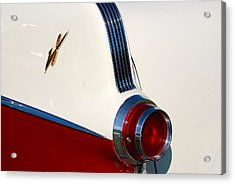 Acrylic Print featuring the photograph First Pontiac V8 1955 by John Schneider