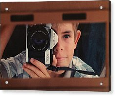 First Self-portrait Acrylic Print by David Paul Murray