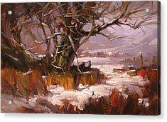 First Snow Acrylic Print by Richard Robinson