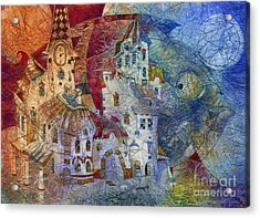 Fish -  Moon  Acrylic Print by Svetlana and Sabir Gadghievs