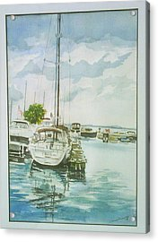 Fish Creek Harbor Acrylic Print by Laurel Fredericks