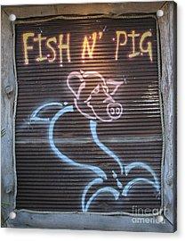 Fish N' Pig Acrylic Print