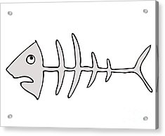 Fish Skeleton - Fishbones Acrylic Print by Michal Boubin