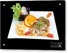 Fish Steak Acrylic Print by Atiketta Sangasaeng