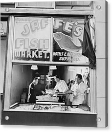 Fish Store In The Lower East Side Acrylic Print by Everett