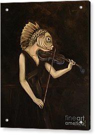Fish With Violin Acrylic Print