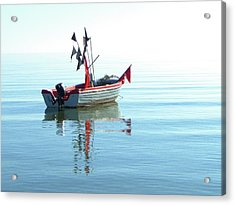 Fisher-boat In Baltic Sea Acrylic Print by Km-foto