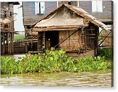 Fisherman Boat House Acrylic Print