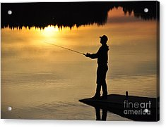 Fisherman Acrylic Print by Conny Sjostrom