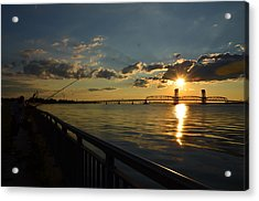Acrylic Print featuring the photograph Fisherman Jamaica Bay by Maureen E Ritter