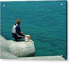 Fisherman - Okinawa Acrylic Print