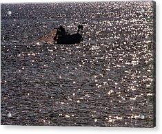 Fisherman Acrylic Print by Stelios Kleanthous
