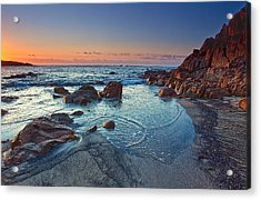 Acrylic Print featuring the photograph Fishermans Bay Sunrise by Paul Svensen