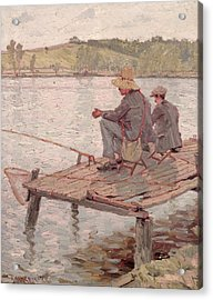 Fishermen Acrylic Print by Pierre Roche