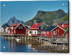 Fishermen's Houses Acrylic Print
