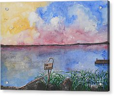 Fishers Of Men Acrylic Print by Barbara McNeil