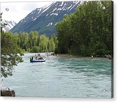 Fishing And Rafting  Acrylic Print