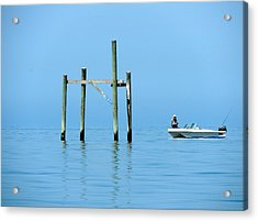 Fishing At The Bird Rack Acrylic Print
