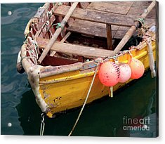 Fishing Boat Acrylic Print by Carlos Caetano