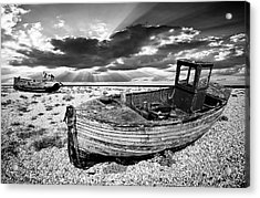 Fishing Boat Graveyard Acrylic Print by Meirion Matthias