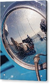 Fishing Boat Reflection Acrylic Print