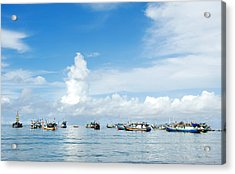 Fishing Boat Acrylic Print by Yew Kwang