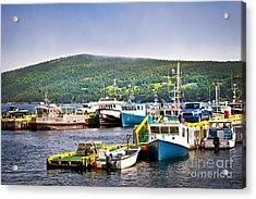 Fishing Boats In Newfoundland Acrylic Print by Elena Elisseeva