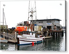 Fishing Boats In Pillar Point Harbor At Half Moon Bay California . 7d8210 Acrylic Print by Wingsdomain Art and Photography