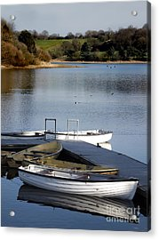 Fishing Boats Acrylic Print by Linsey Williams