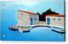 Fishing Boats Of The Mediterranean Acrylic Print