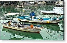 Fishing Boats - Okinawa Japan Acrylic Print by Jocelyn Kahawai